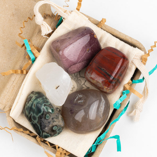 Earth Energy Crystal Intention Pouch