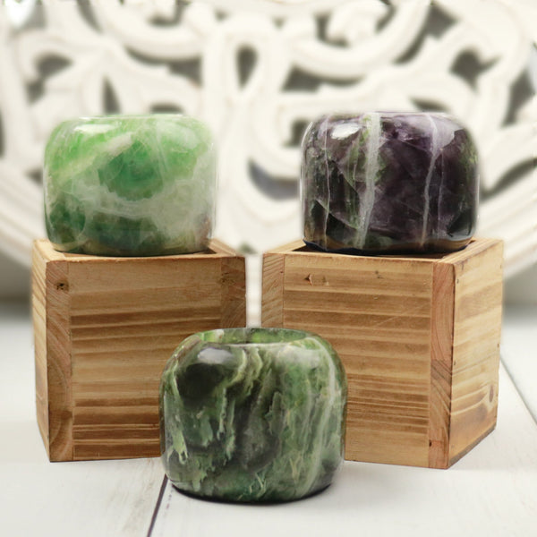 Fluorite Candle Holder