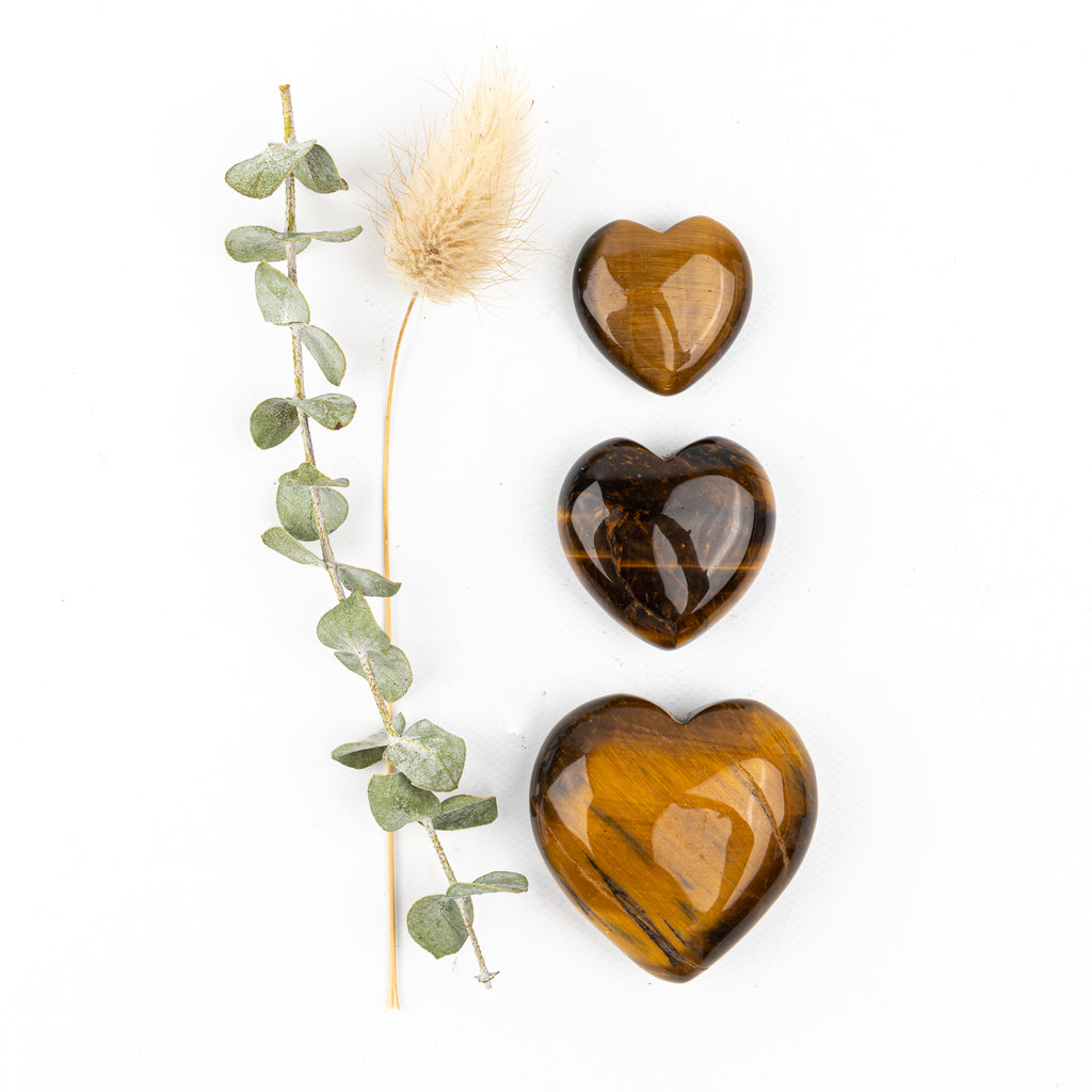Golden Tiger Eye Companion Hearts