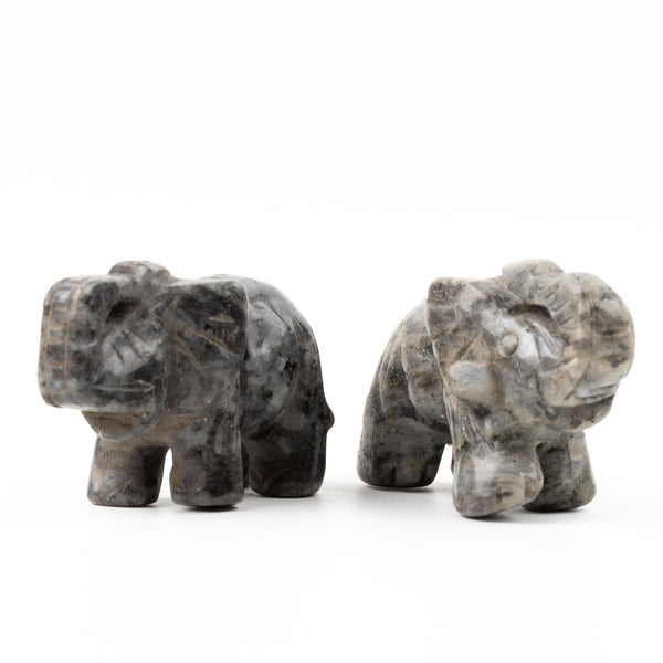 Larvikite Elephant - Medium