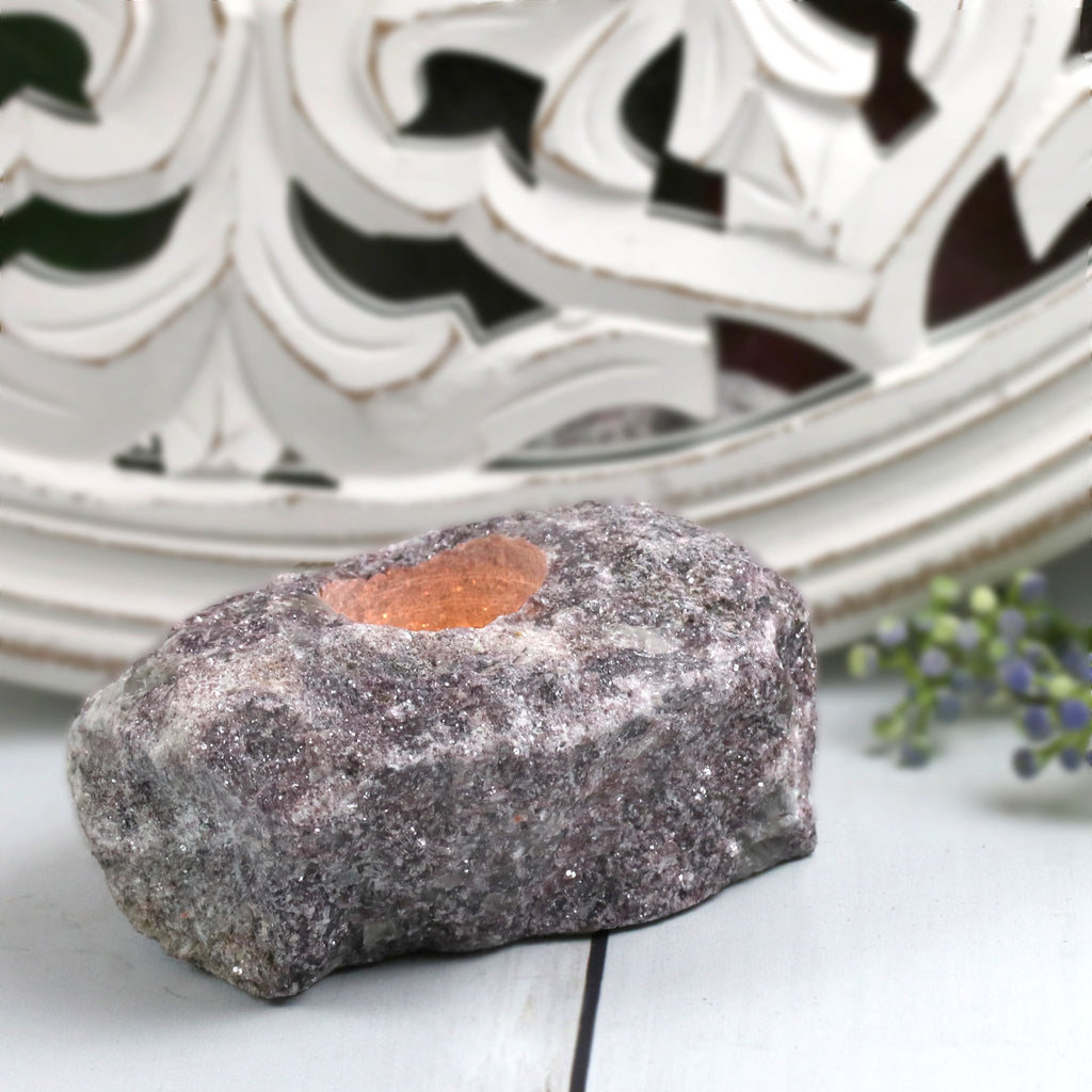Lepidolite Candle Holder