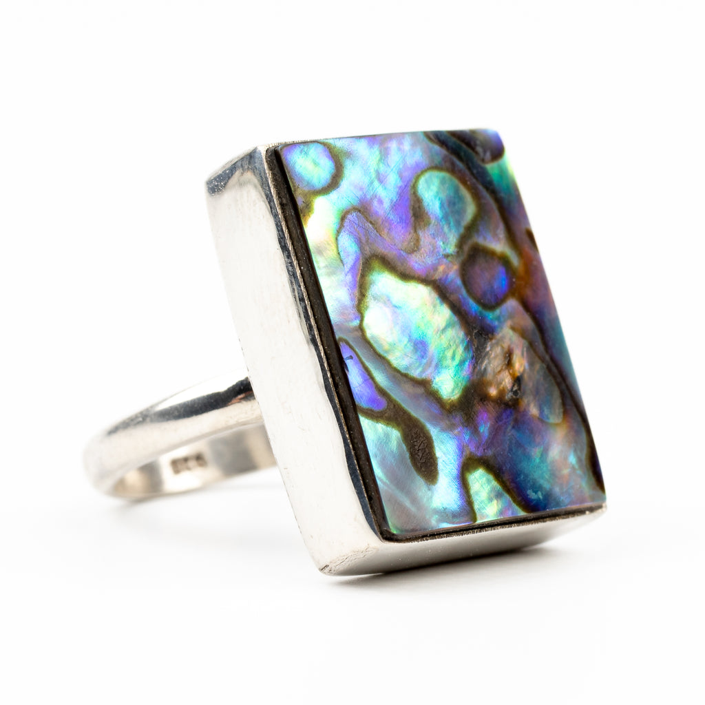 Abalone Shell Ring Size 6.5