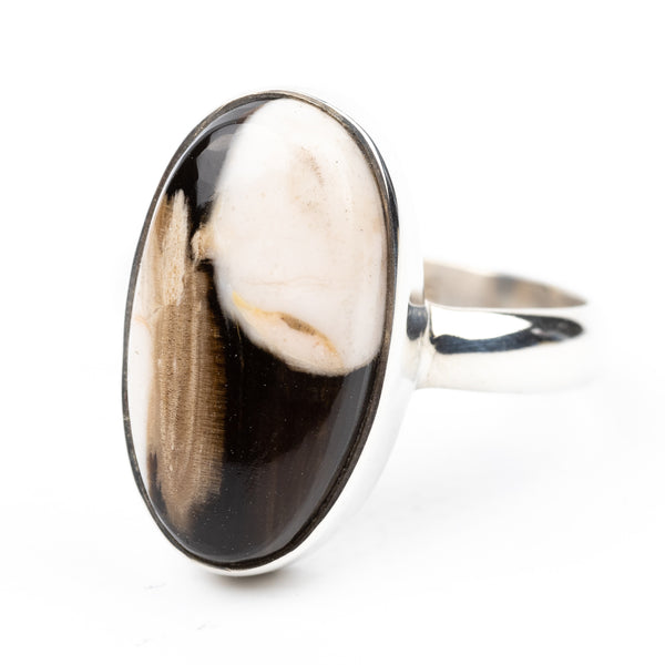 Peanut Wood Ring Size 7.25