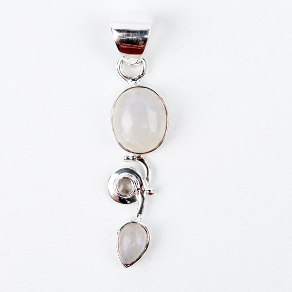 Rainbow Moonstone Pendant #2