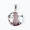 Rose Quartz Moon & Stars Pendant