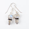 Rainbow Moonstone Dangle Earrings #2