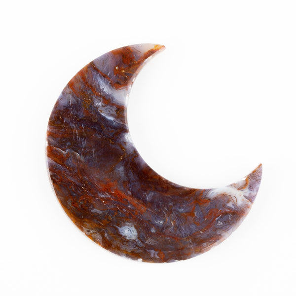 Red Moss Agate Moon