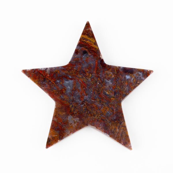 Red Moss Agate Star