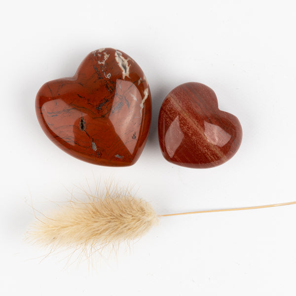 Red Jasper Companion Hearts