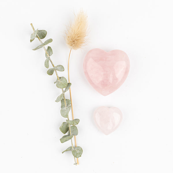 Rose Quartz Companion Hearts