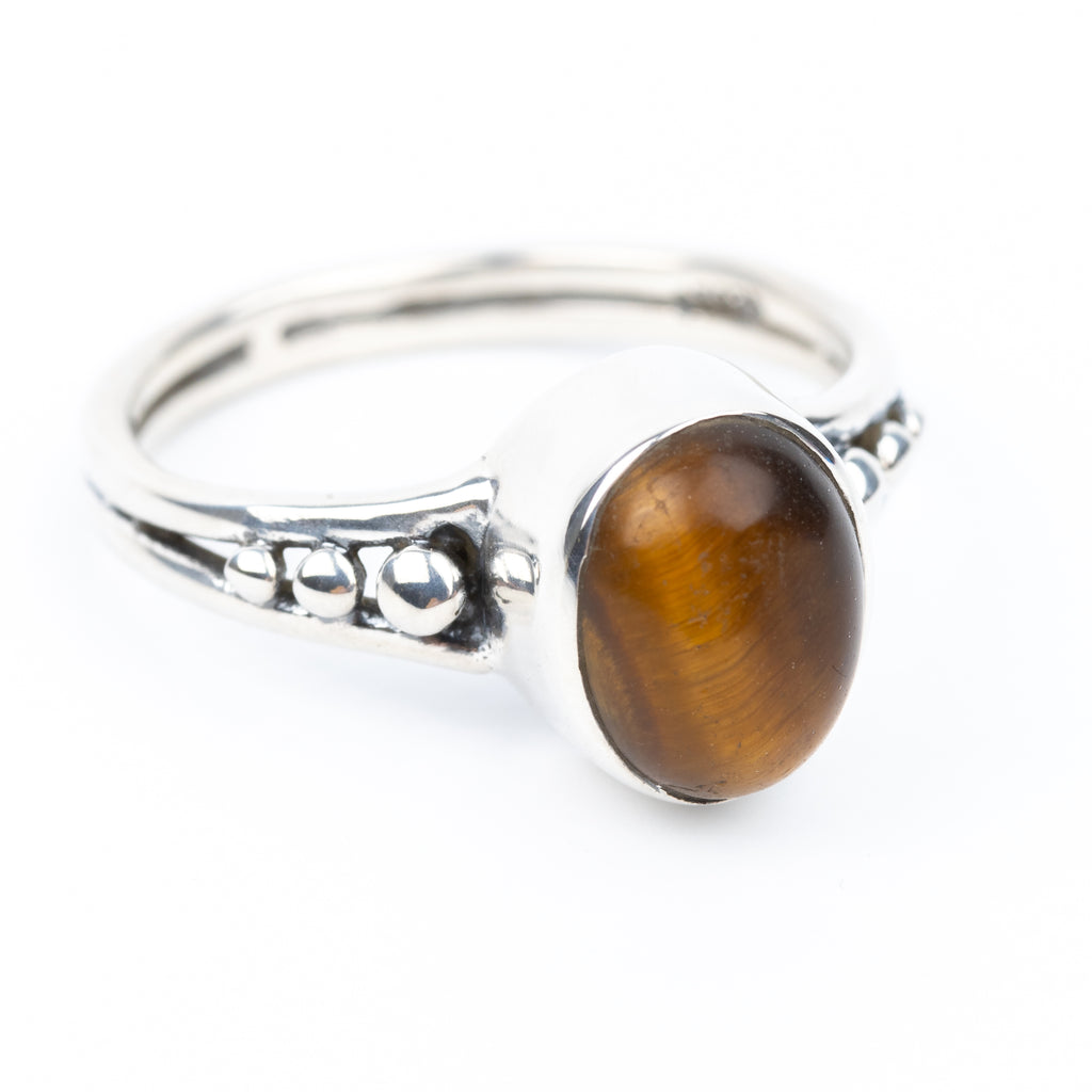 Tiger Eye Ring Size 6.5