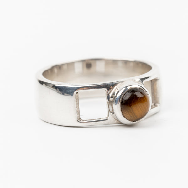 Tiger Eye Ring Size 6