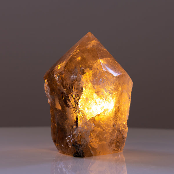 Top Polish Smoky Quartz Lamp