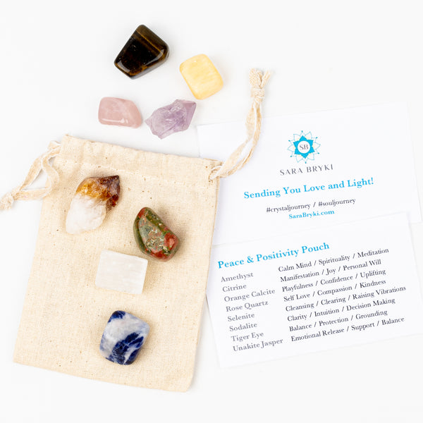 Peace & Positivity Crystal Intention Pouch