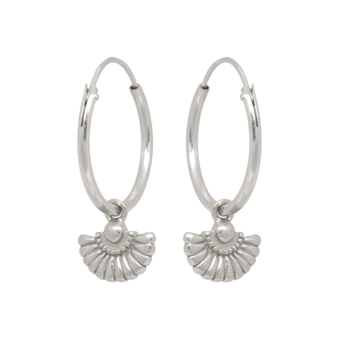 deco waiver silver earring garb eline rosina