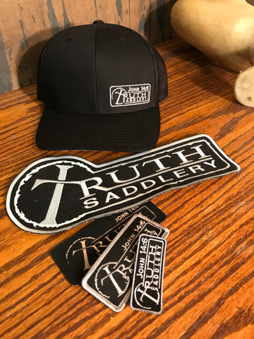 Flex Fit FITTED Caps - Black Andy Silver TEAM PATCH LOGO