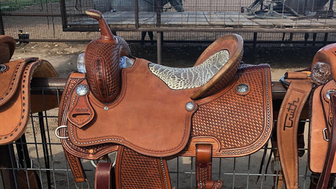 IN STOCK - The SAN ANTONIO Barrel Saddle