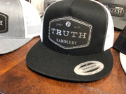 Flat Bill Trucker with New Badge Patch - Yupoong - Free shipping