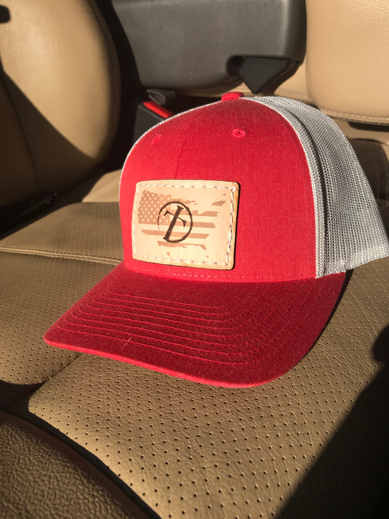 "The ""PATRIOT"" Leather Patch Cap"