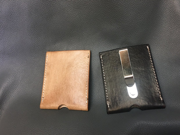 Leather Card Case - full custom with Money clip / Front pocket