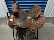 "#9- 14"" Martin Barrel Wide - Dark Alligator Seat"