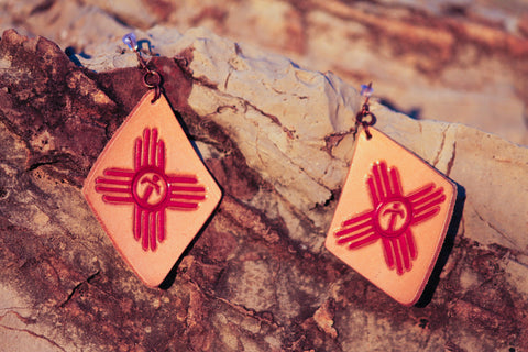 New Mexico Zia Earrings - Free Shipping
