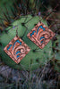 Image of Handmade Square Leather Earrings -Free Shipping