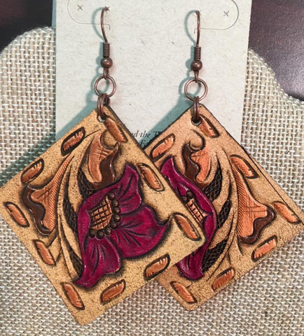 Katelyn's Favorite Square Leather Earrings