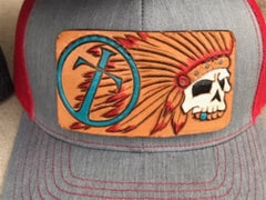 Tribal Leather Patch Cap