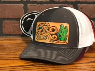 Cactus Leather Patch Cap