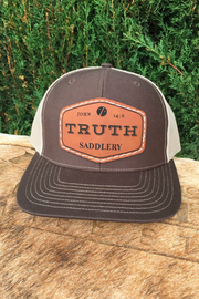 Truth Leather Badge Caps
