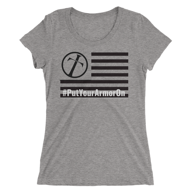 Ladies' #PutYourArmorOn short sleeve t-shirt