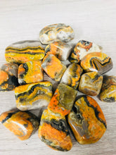 TUMBLED BUMBLEBEE JASPER  FOR STRENGTH AND VITALITY