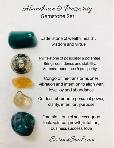Abundance and Prosperity Gemstone Set