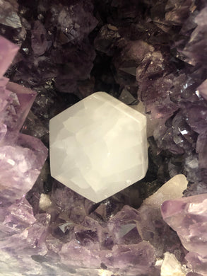 Hexagon Shaped Selenite