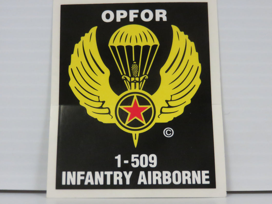 OPFOR 1-509 Infantry Airborne SMALL Decal