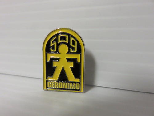 509 G-Man Lapel Pin YELLOW Enamel