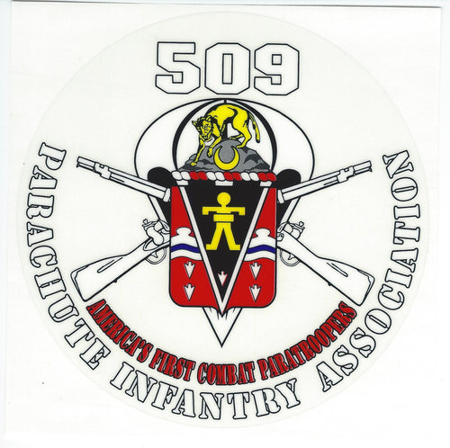 509 Association Decal CURRENTLY OUT OF STOCK