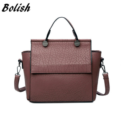 New Arrival Vintage Trapeze Tote Women Leather Fashion Top-Handle Handbags