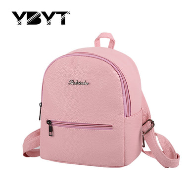 New 2017 small fashion solid letter rucksack high quality women shopping package ladies famous designer travel bag