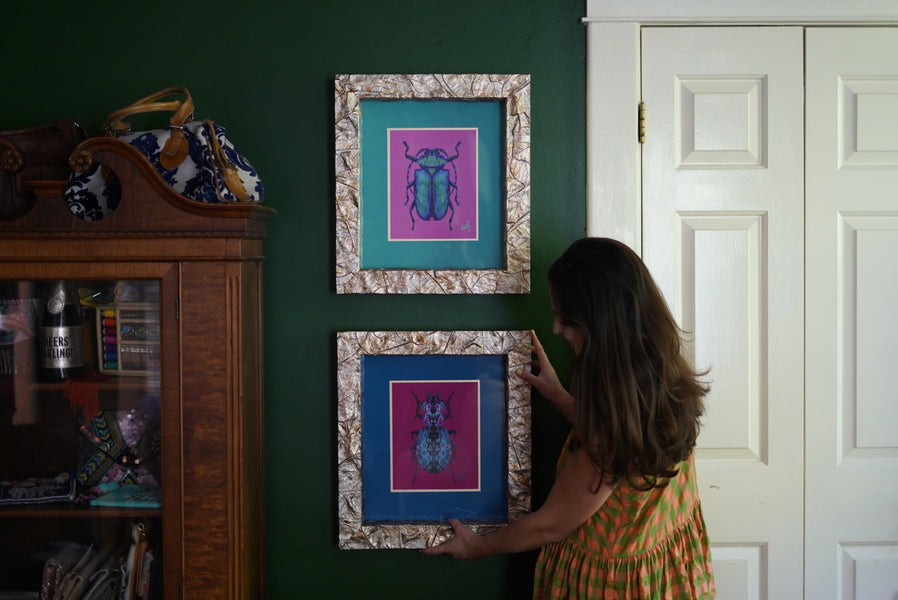 Custom Framing Beetle Art Prints with 1910 Frame Works - 20% off for you until September 8th!