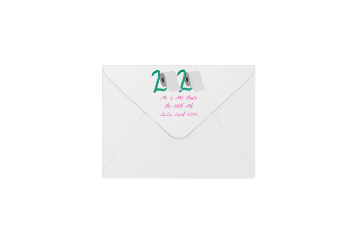 2020 toilet paper envelopes - address printing