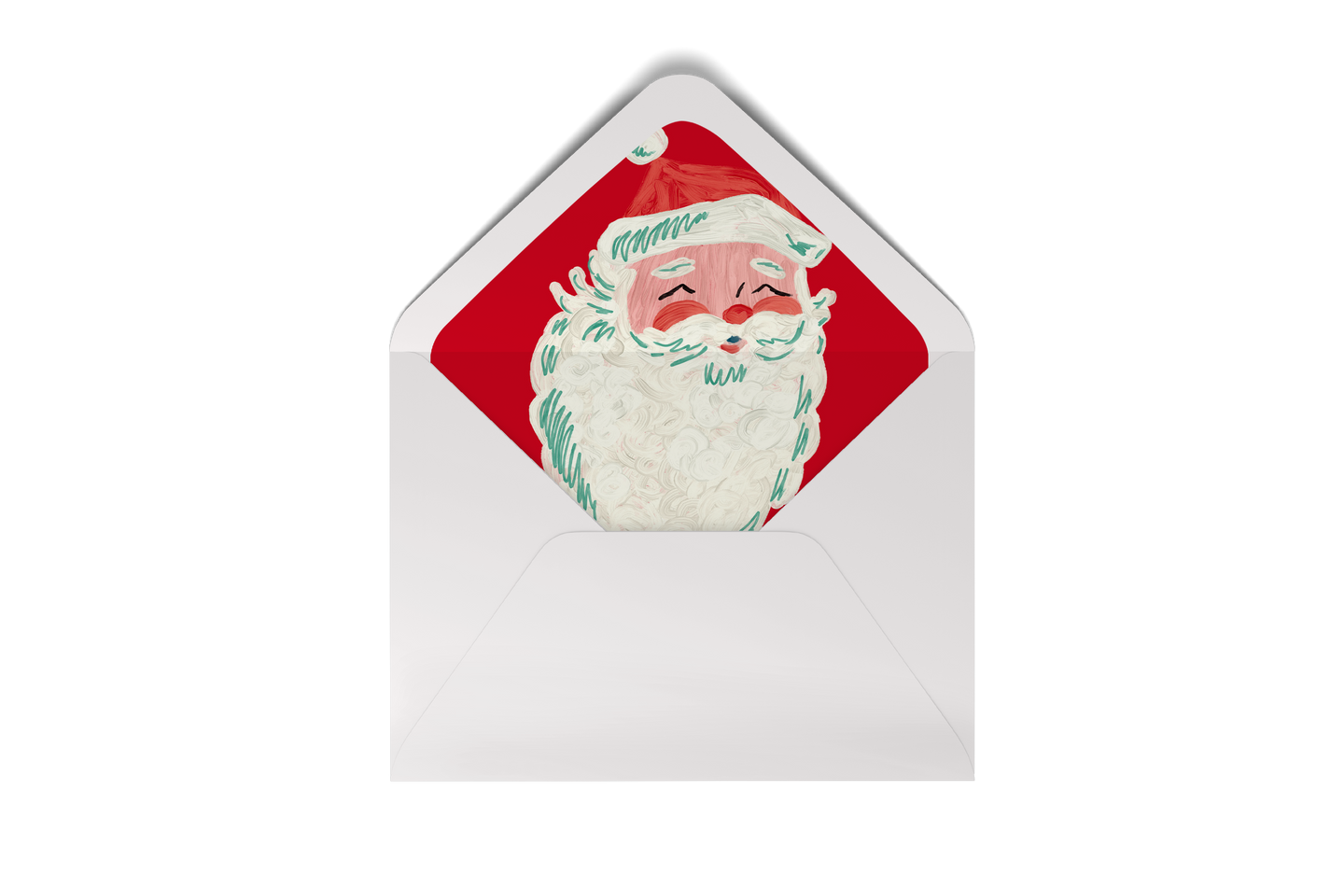 santa holly jolly envelope liner