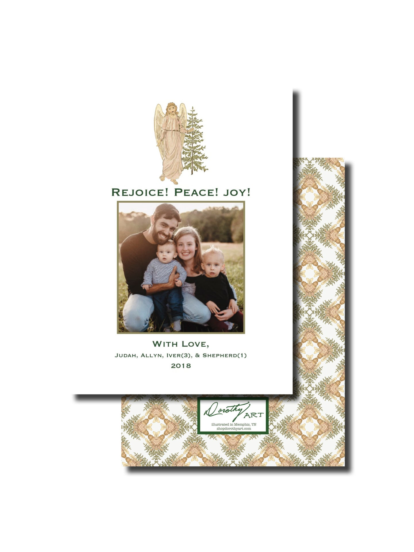 angel rejoice holiday card