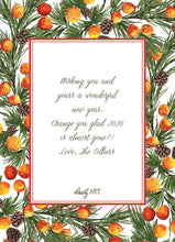 oranges holiday card