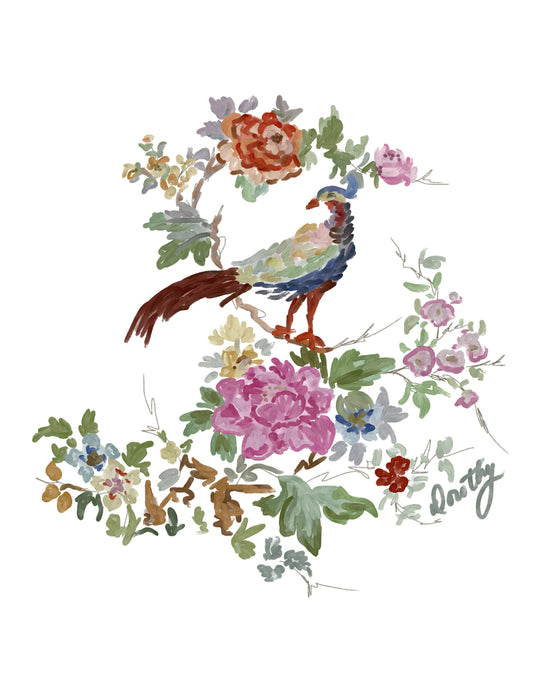 Chinoiserie Bird Crest - Dorothy Art