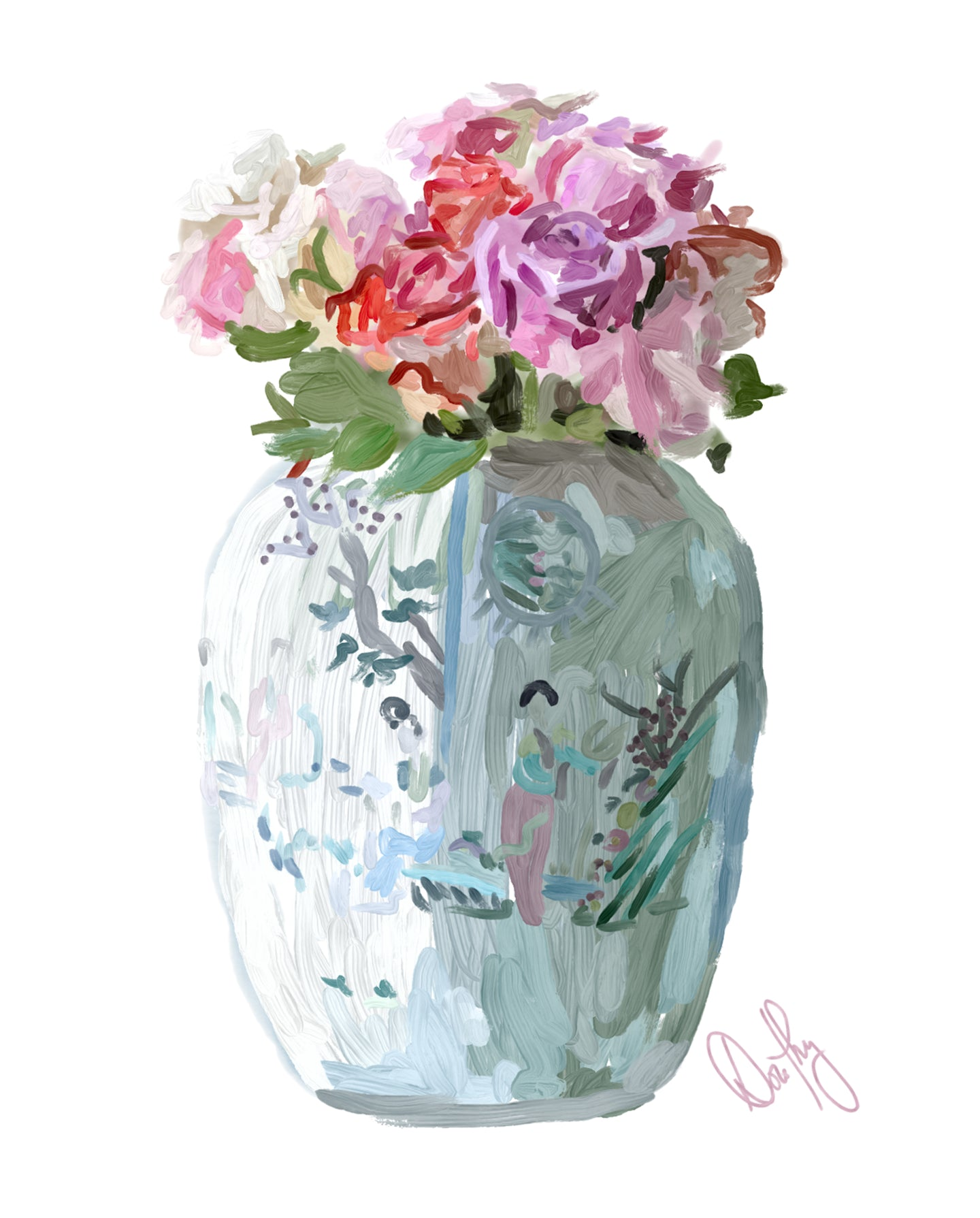 Chinoiserie Florals 3 - Dorothy Art