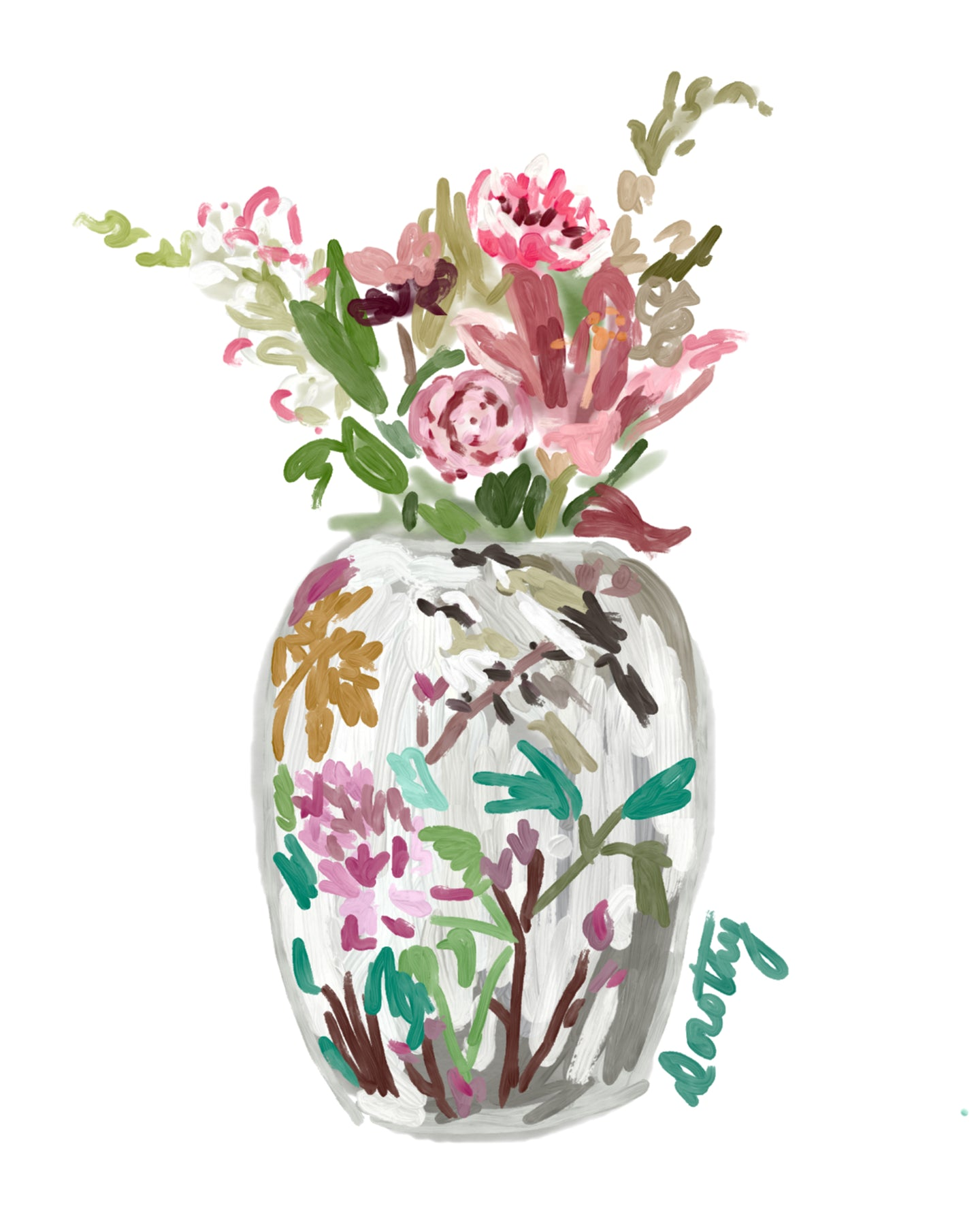 Chinoiserie Florals 1 - Dorothy Art