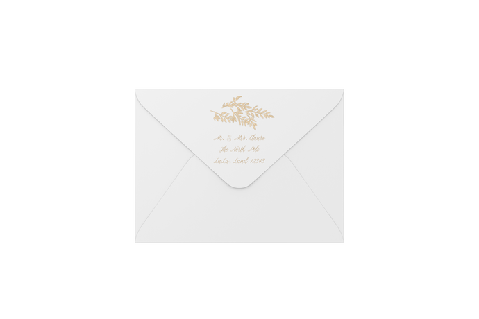 fern in creme envelopes - address printing