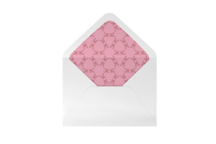 bow striped envelope liner